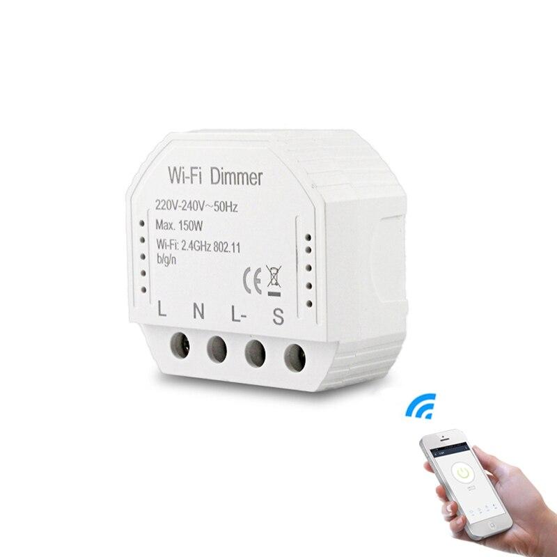 MoesHouse DIY Smart WiFi Light LED Dimmer Switch Smart Life/Tuya APP Remote Control 1/2 Way Switch Works Alexa Google Home