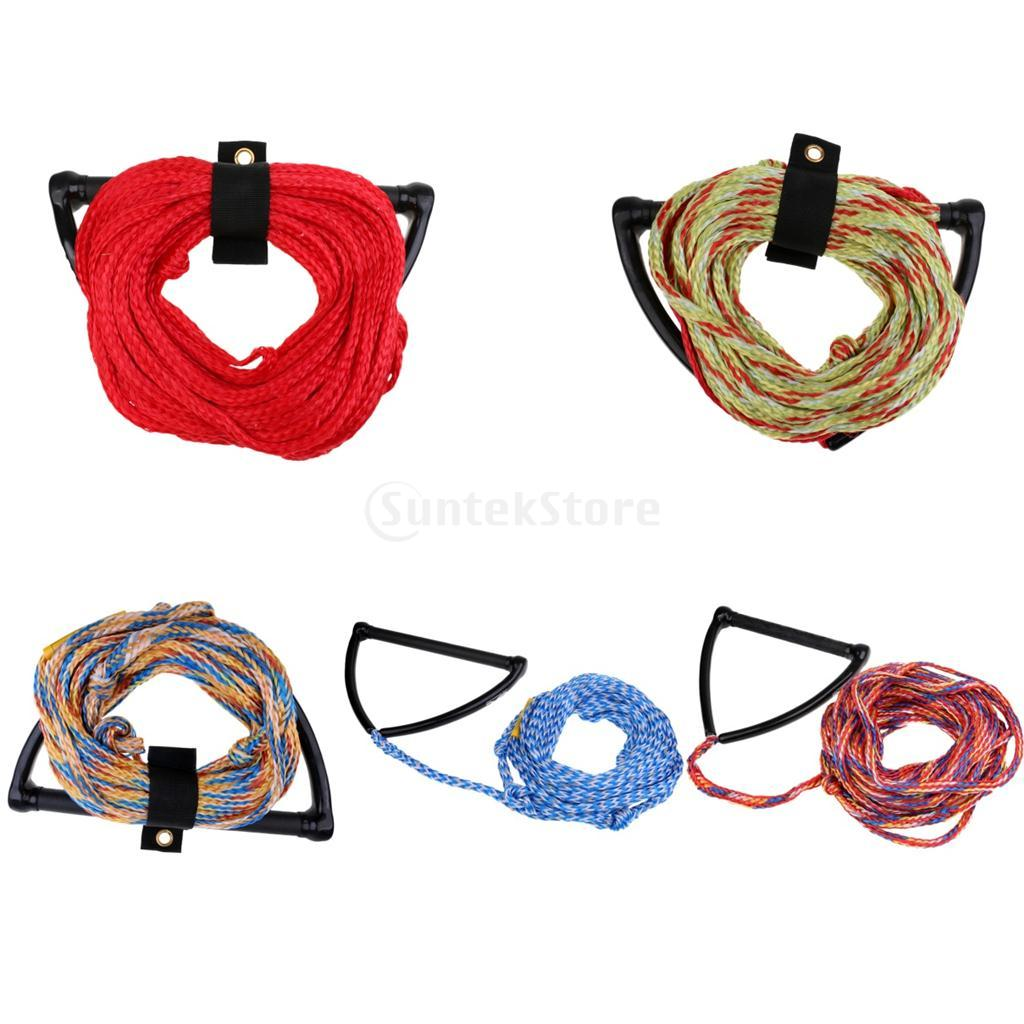 "Safety 23m/75ft 2200lb 1 Section Water Ski Rope Tow Harness Leash Cord Line &15"" EVA Handle Grip for Wakeboard Kneeboard Surfing"