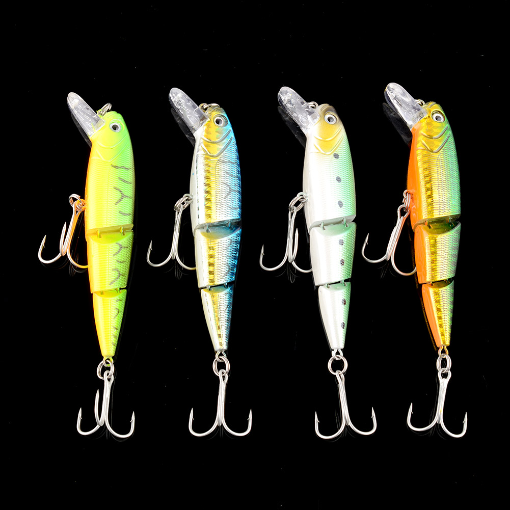 Swimbait Jointed Minnow Fishing Lures Fish Hook Crankbait Hard Bait 3 Sections Multicolor 10cm High quality Artificial Bait tsurinoya fishing lure minnow hard bait swimbait mini fish lures crankbait fishing tackle with 2 hook 42mm 3d eyes 10 colors set