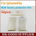 50 unids OEM Para iphone4/4S nueva fábrica de Protectores de Pantalla de la película protectora freeshipping