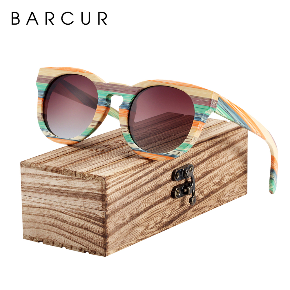BARCUR Original Round Sunglasses Polarized Gradient Sun glasses Round Sports Eyewear lunette de soleil homme|Men's Sunglasses| - AliExpress