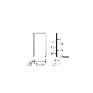 Image 2 - 2000Pcs 1022J Stapler Nail For Framing Tacker 1022J Nailer Stapler Gun