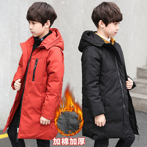Image 3 - Winter Jacket Boys Overalls Childrens Warm Thick Jacket Coat Teenager 4 16yrs Parkas For Children Clothes Kids Outerwear&Coats
