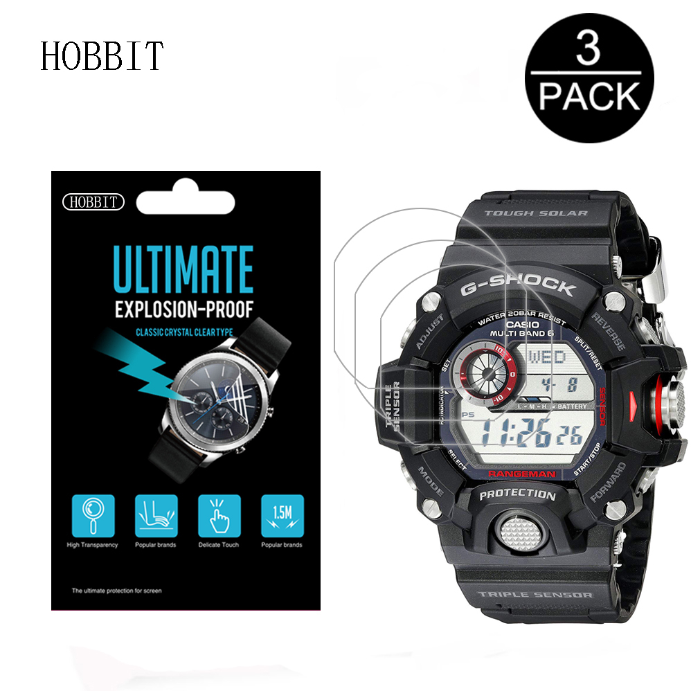 3Pcs For Casio GW9400 Men's GShock Sport Watch Screen Protection Film For <font><b>GW</b></font>-<font><b>9400</b></font>-1CR <font><b>GW</b></font>-<font><b>9400</b></font>-3CR <font><b>GW</b></font>-9400J-1JF Anti-Scratch Film image