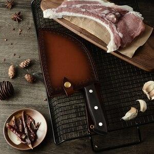 Image 5 - XYj Full Đường Bộ Ăn Thịt Dao Đầu Bếp Trung Quốc Dao Nhà Bếp Handmade Giả Carbon Cao Cấp Bọc Thép Rau Củ Tặng Dao Bao Vỏ Bọc