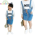 Top Quality spring summer girl strap denim Skirts casual short Skirts fashion mini dress lovely fashion Skirts A049