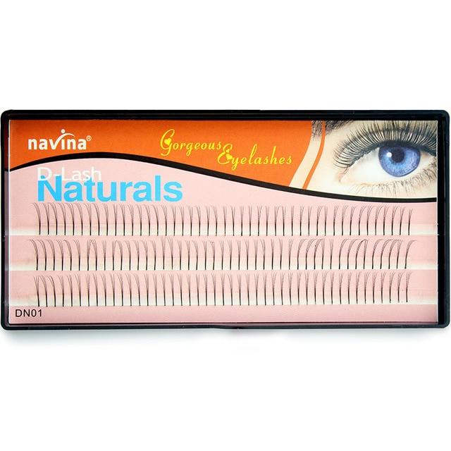 121919ef88e Navina Natural Soft Long Black Eyelash Extension Professional 3D Grafting  Individual Cluster Eyelashes Makeup Faux Cilia