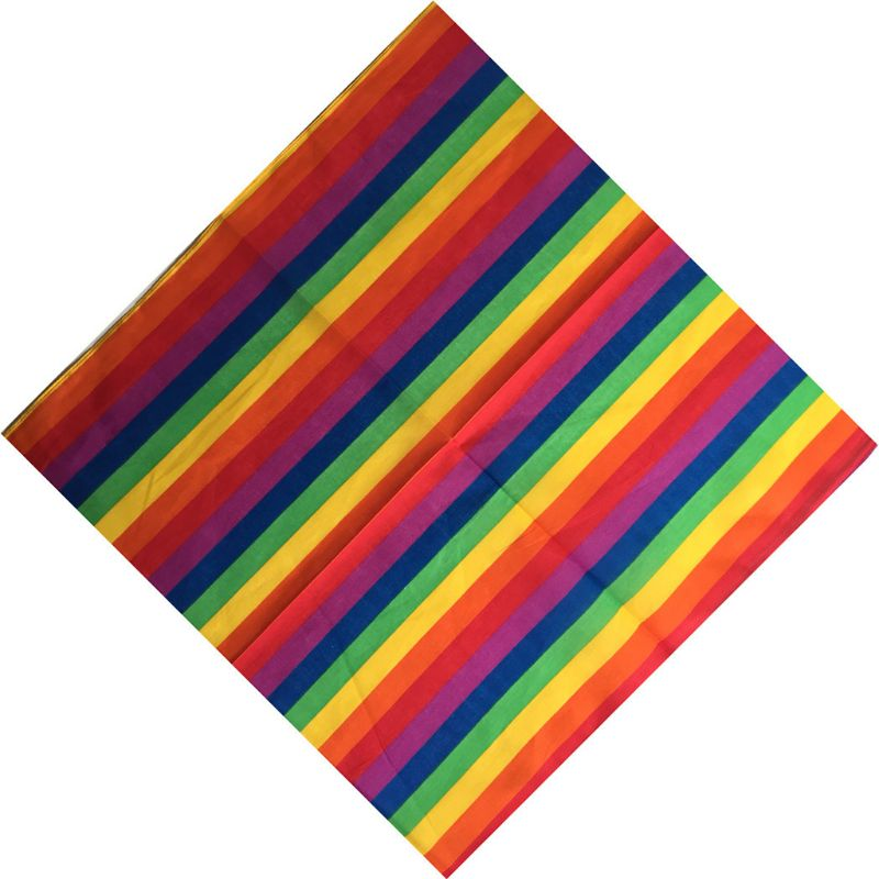 55x55CM Unisex Cotton Pocket Square Scarf Festival Rainbow Colorful Seven Stripes Headband Bandana Gay Parade Wristband Neck Tie
