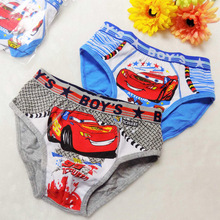Retail 2pcs/lot Hot sale high quality Children Cotton Underwear Kids Briefs Boys thickening panties Cartoon Character Underpants