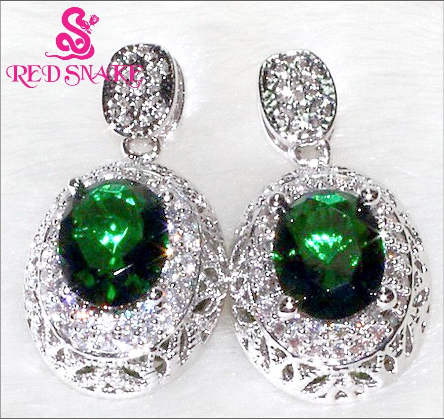 6de43194afcf Serpiente roja especial micro insertar joyería verde Pendientes para las  mujeres AAA ZIRCON 88 grano de piedra