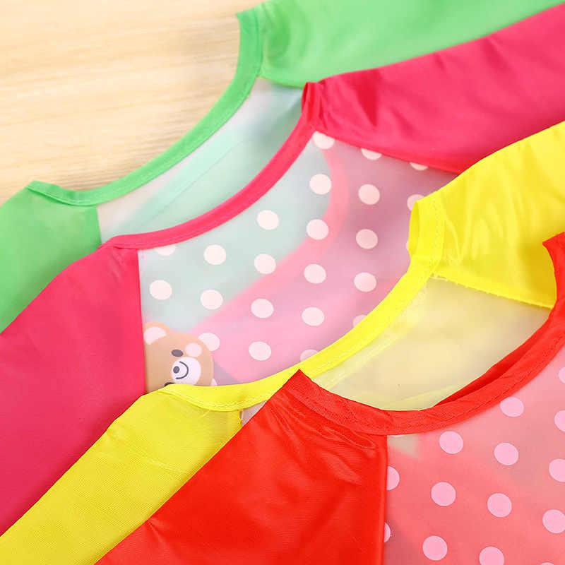 Детские нагрудники для детей, шарф для малышей, одежда для кормления, непромокаемое покрытие с длинными рукавами, аксессуары для кормления младенцев