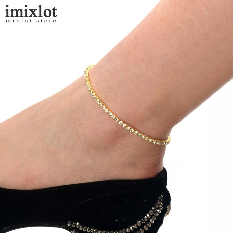tornozeleira one foot anklet silver leg stretch from tennis bracelet row rhinestone jewelry ankle item gold chain clear anklets in crystal femininas
