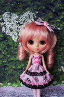 Handmade Pullip Doll Azone Dress Dress [Wamami] Cute Outfit Lolita Blyth Pink