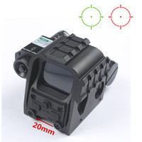 Tactical Holographic HD553G Reflex Sight With Green Laser Scope Red And Green Dot Reflex Sight With