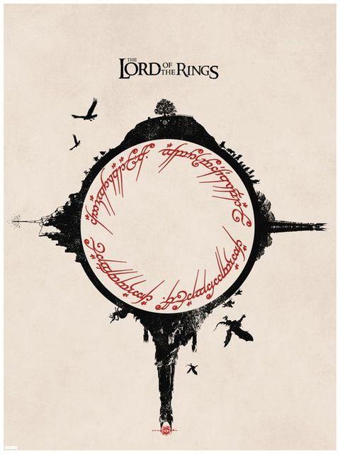 Lord of Rings Vintage Kraft Poster
