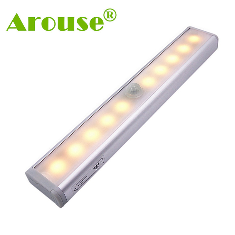 AROUSE Night Light Motion Sensor Lights 10 LEDs Wireless LED Closet Lights Battery Oper ...