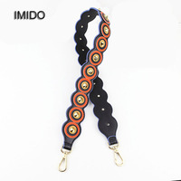 IMIDO Rivet Leather replacement shoulder straps for bags belt handles for women handbags designer bags accessories parts STP002