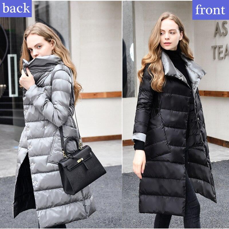 Duvet Canard Femmes Marque Blanc Veste or Parkas D hiver Portent Vers Vestes  La Long bleu Nouvelle Mode Épais 2018 Noir ... 1c8f38f8e03a