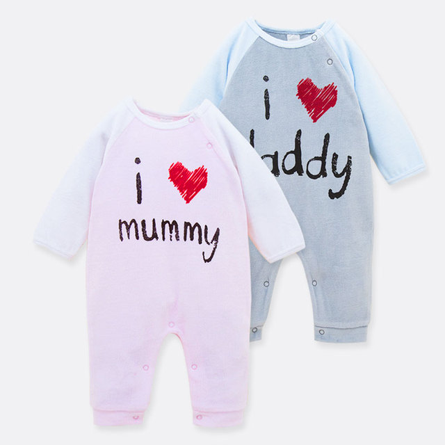 2016 Nueva Llegada 100% Algodón Recién Nacido Bebé Niños Niñas de Manga Larga Monos Cubre Piernas Patchwork de Una sola Pieza Pijama Lindo 0-18 M