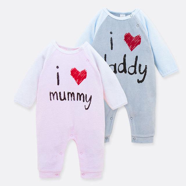 2016 chegada nova 100% algodão bebê recém-nascido meninos meninas manga comprida Bodysuits Footcover retalhos de uma peça pijama bonito 0 - 18 M