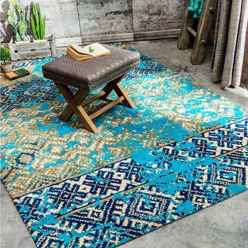 Средиземноморский синий стиль Свадьба ковер, голубая гостиная земле коврик 200*300 см, прикроватный коврик украшения дома ковер