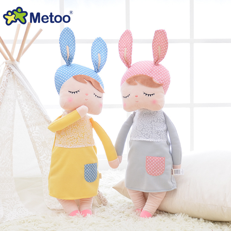 13 Inch Plush Stuffed Animal Cartoon Kids Toys for Girls Children Baby Birthday Christmas Gift Kawaii Angela Rabbit Metoo Doll cute bulbasaur plush toys baby kawaii genius soft stuffed animals doll for kids hot anime character toys children birthday gift