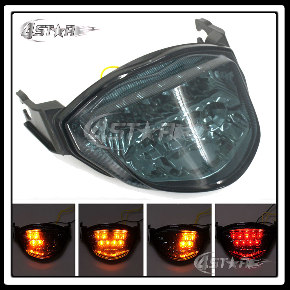 Motorcycle Somke LED Rear Turn Signal Tail Stop Light Lamp Integrated Brake Light For GS ...