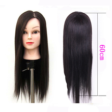 Long Hairstyle Training Doll Head Cosmetology Mannquin With Straight Synthetic Hair Manikin