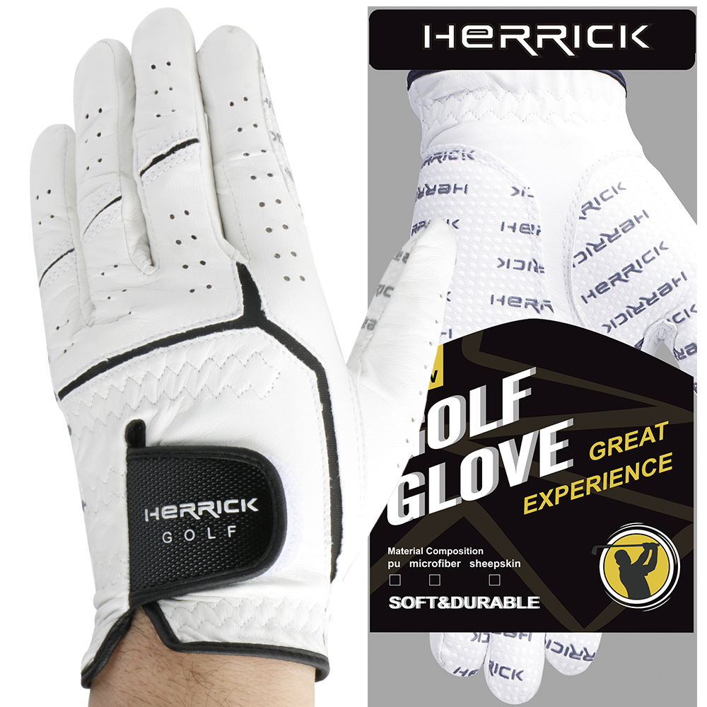 Golf glove men genuine leather Strengthening wear-resisting  super Non-slip Sheepskin fabric freeshipping