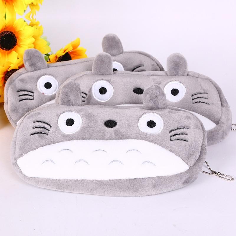 Kawaii Cartoon Pen case Totoro plush Smile Face Emoji Cute Pencil case School Minecraft etui trousse scolaire stylo 04819 17