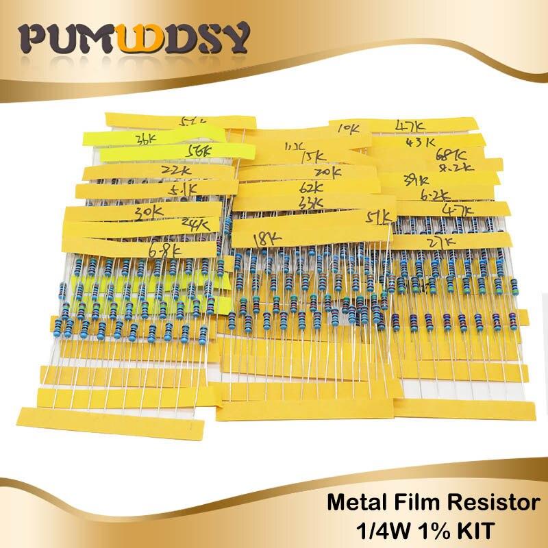 100 résistances couche métal 91R 0,4W 5/% Yageo