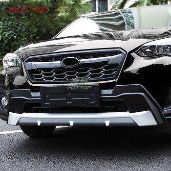 Nadające się do Subaru XV 2017 2018 ze stali nierdzewnej przedni i tylny zderzak Skid osłona zabezpieczająca osłona podstawy wykończenia ABS CHROME