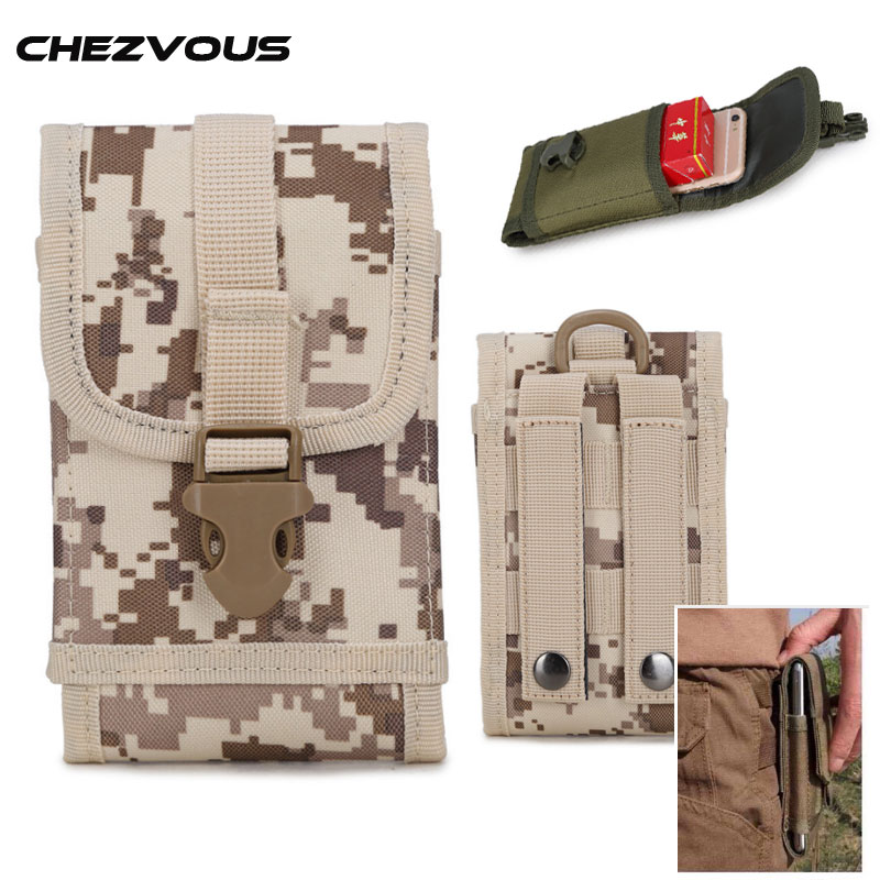 Universal Multi Phone Model Belt Clip Pouch Camouflage Bag< 6.0 Outdoor Sport Belt Hook Loop Holster Waist Case for iphone6 7