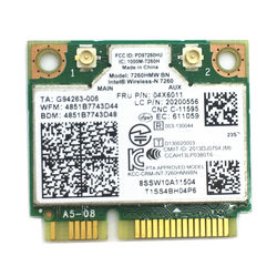 Per Lenovo 04X6011 K4350 K4250 B5400 M5400 M4400S S410 S310 S540 7260HMW + BT 4.0 MINI-PCI E WLAN INTEL 7260 BN WIRELESS-N
