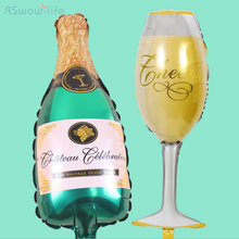 Large Champagne Aluminum Balloon Wine Glass Bottle Shape for Wedding Decoration Birthday Party Holiday Supplies