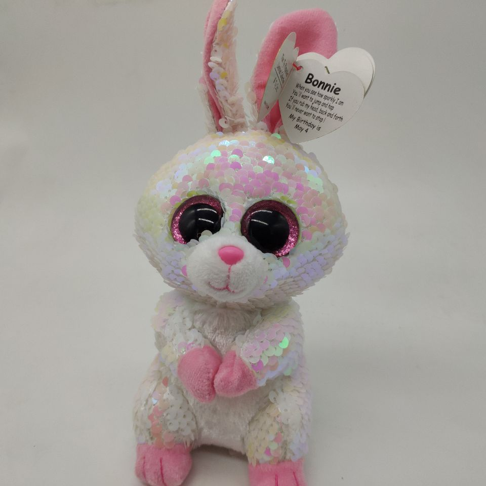 ad755769a69 bonnie sequin bunny rabbit with tag and label TY flippables 1PC 15CM Plush  Toys Stuffed animals
