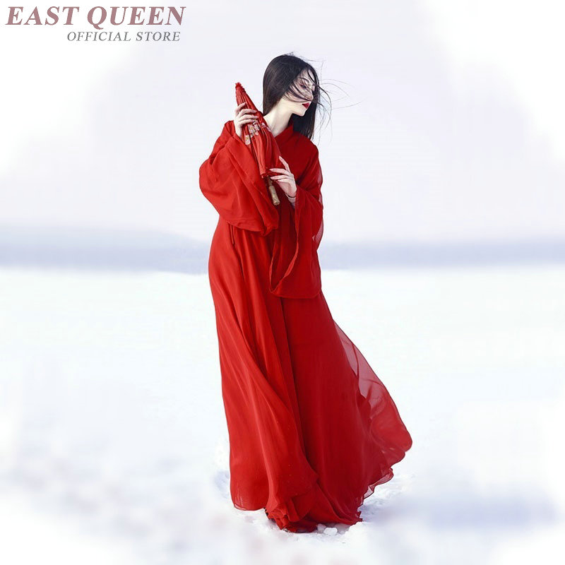 Ancient Chinese Costume Folk Dance Clothing Chinese Oriental Dresses Red Vintage Qipao Chinese Traditional Clothing  AA3618 Y