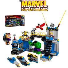 MARVEL Set Super Heroes Avengers HULK LAB SMASH Thor Building Bricks Blocks Toy Figure Lepin 76018