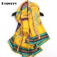 Pure 100% Women Scarf luxury Brand Designer Twill Silk 10 Horses Handmade Hemming Bandanas Scarves Big Shawls Wraps 140*140cm