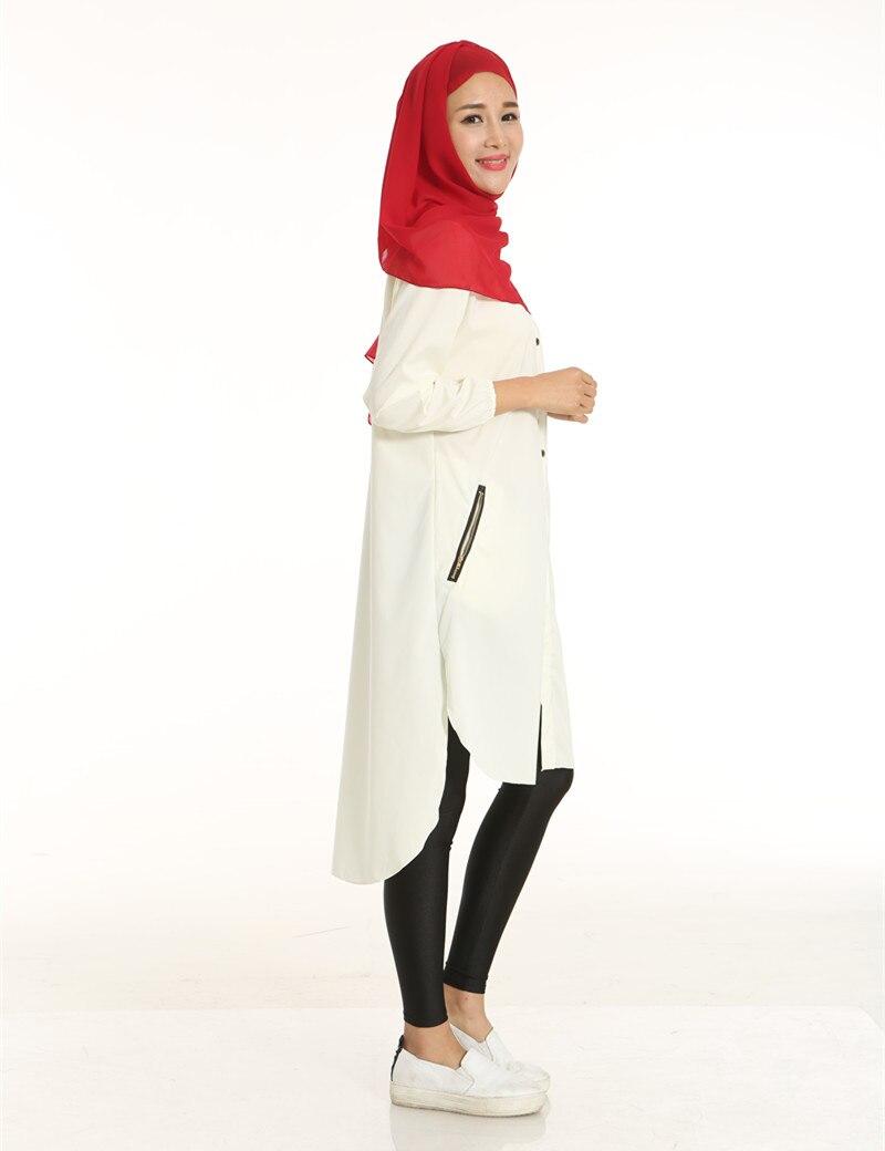 Купить женские топы из шифона с длинным рукавом футболки мусульманские