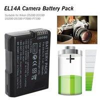 Цифровая фотокамера EN-EL14 ENEL14 EN EL14 Батарея пакет для Nikon D5200 D3100 D3200 D5100 P7000 P7100 MH-24 DSLR Камера