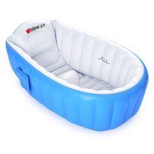 Детская ванночка детская Ванна портативная надувная мультяшная безопасная утолщенная мочалка Детская ванна для новорожденных сохраняющая тепло