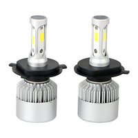 1 Pair Car Modification H4 HB2 9003 LED Car Lights Low High Beam Aluminum Cool White