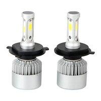1 Pair Car Modification H4 HB2 9003 LED Car Lights Low High Beam Aluminum Cool White