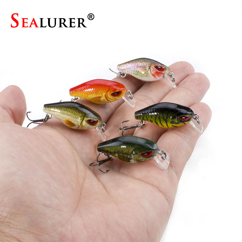 Fishing Lures 5cm 2.1g Minnow Bait 8 Colors Available Crankbait  Lifelike Hard