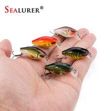 SEALURER Fishing Mini Crankbaits 10# Hooks 3.5cm 2.1g Floating Minnow Lures Wobbler Plastic Hard Baits Swimbaits 1pcs B077