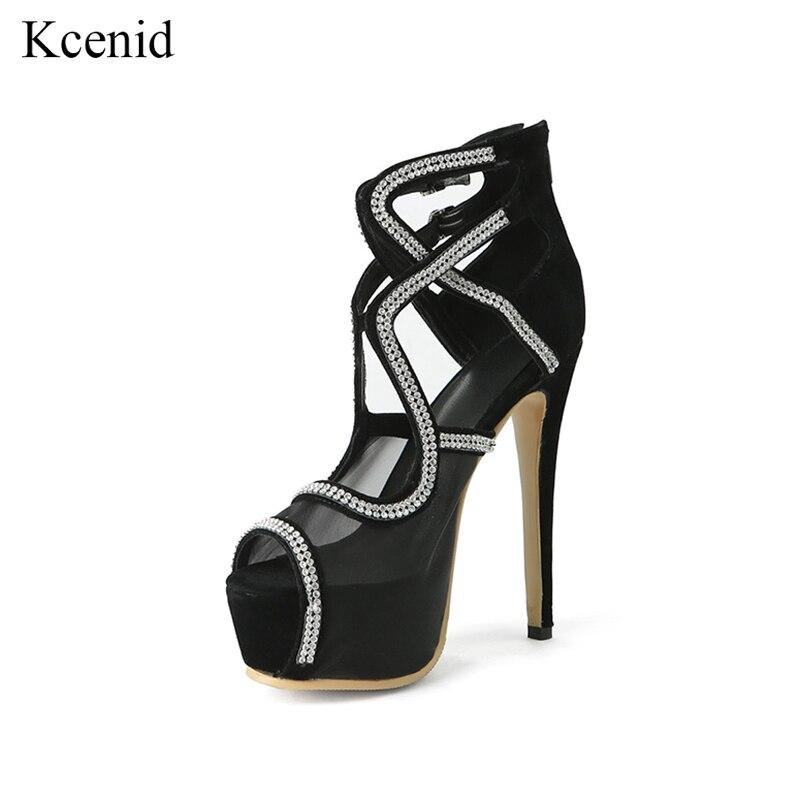 c5fbb9bf4 Altos Diamante 2019 De Fiesta Sexy Vestido Imitación Nuevo Tacones Moda Sandalias  Zapatos Plataforma Gladiador Kcenid Mujer Negro nvwf1Sxq1