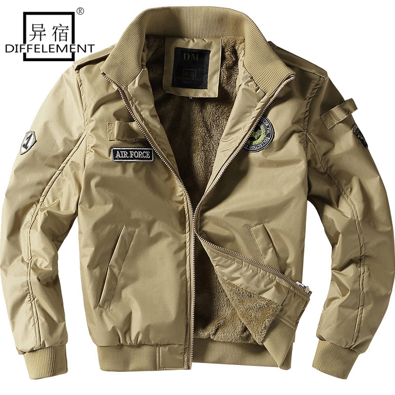 DIFFELEMENT New Men's Flight Jackets Military Uniform Casual Jacket multi-pocketed Tooling Jacket Military Tactical Jacket Men