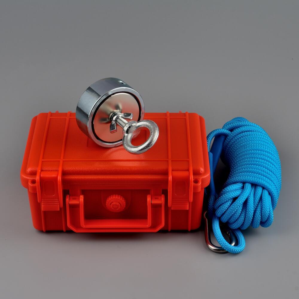 200 кг * 2 вертикальных Pull-force поисковый магнит неодимовый магнит Рыбная Ловля Веревки в сейф D67 * 28 мм Поиск salvage из металла Охотник за сокровища...