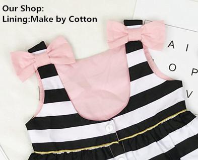 HTB1.0VsQVXXXXbuaXXXq6xXFXXXE - Baby Girls Dress Summer 2017 Stripe Dress Baby Dressing for Party Holiday Black and White with Bow Kids Clothes Girls Cute Brand
